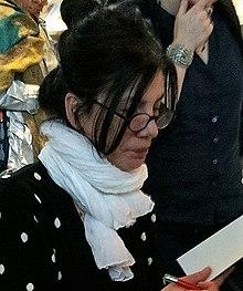 Brigitte Giraud, en la feria del libro 2012. Escritora francesa nacida en 1960, autora de novelas y cuentos