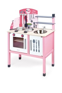 Cocina de madera de juguete