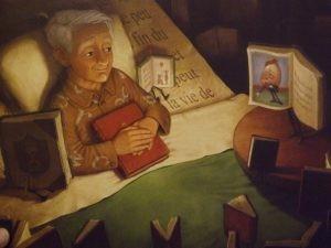 'Los fantásticos libros voladores del Sr. Morris Lessmore' | El señor Lessmore cuidado por sus libros