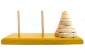 Torres de Hanói. Puzzles de ingenio