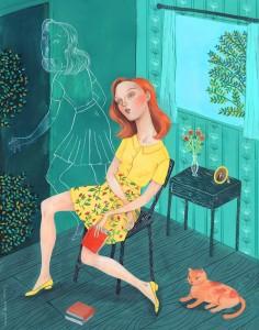 Nos desdoblamos con la lectura, vivimos otras vidas (ilustración de Helena Pérez García)