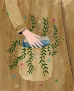 Un libro en el bolsillo (ilustración de Canas Verdes)