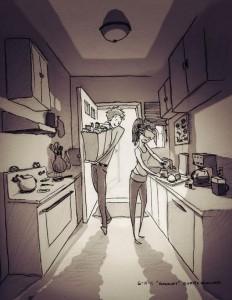 Llenando la despensa y cocinando