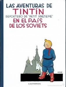 Portada de la edición castellana de 'Tintín en el país de los soviets'