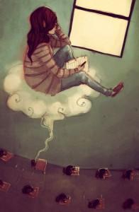 ilustración de James Fenner. Perfil niños altas capacidades