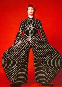 Vestido para el Aladdin Sane tour de 1973, diseñado por Kansai Yamamoto / Masayoshi_Sukita (The David Bowie Archive)
