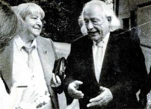 Gloria con Rafael Alberti.