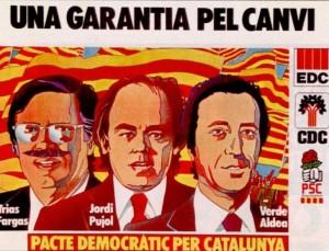 Ramón Trías Fargas, Jordi Pujol y Josep Verde i Aldea formaron coalición en las elecciones de 1977.
