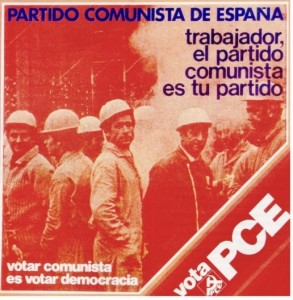 Un cartel del Partido Comunista de las elecciones de 1977.