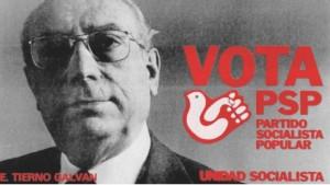 1977, Unidad Socialista, de Tierno Galván. El PSP del profesor Enrique Tierno Galván se presentó a las elecciones con varios partidos que habían formado parte de la Federación de Partidos Socialistas, bajo el nombre Unidad Socialista.