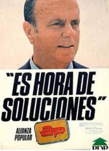 Cartel de Alianza Popular de 1982.