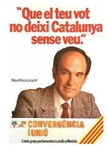Cartel de CiU para las elecciones generales de 1982.