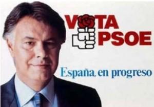 Cartel electoral del PSOE de Felipe González para las elecciones de 1989.