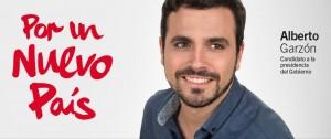 Cartel electoral del candidato de Izquierda Unida – Unidad Popular, Alberto Garzón, para las elecciones 2015.