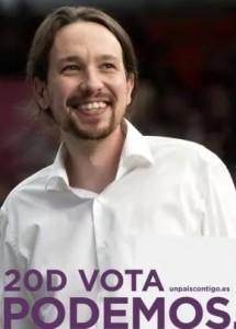 El primer cartel de Pablo Iglesias como candidato a la Moncloa.