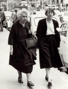 Anna Freud y Dorothy Burlingham, en 1972