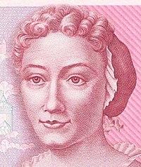 Cuentos de buenas noches para niñas rebeldes. Retrato de Maria Sibylla Merian en el billete de 500 marcos alemanes
