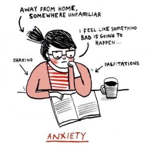 Ansiedad. Ilustración de Gemma Correll.