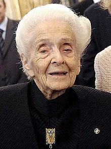 Rita Levi-Montalcini a los 100 años.