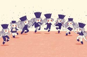 Ilustración de Agustina Guerrero para 'Las reinas del patio'