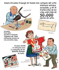 Libros de arte para niños. 100 Pablo Picassos (Violet Lemay)