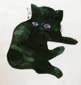 Libros de arte para niños. De noche todos los gatos son verdes (Vincent Péghaire)