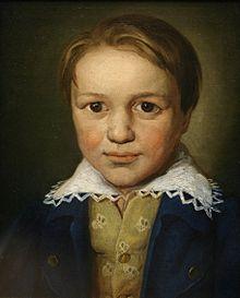 Retrato de Beethoven cuando tenía trece años.