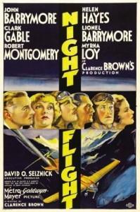 Night Flight (1933) Cuenta la historia de un grupo de esforzados pilotos del servicio de correos a las órdenes de Riviere.