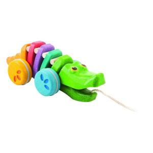 Juguetes de arrastre de madera para bebés