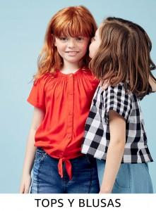 Comprar tops y blusas para niña online