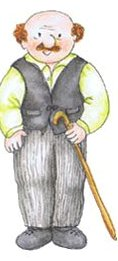 Los libros de Teo. El abuelo Teo es un hombre de campo.