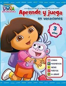 Juegos de ingenio para niños | Aprende y juega en vacaciones (Dora la exploradora. Cuadernos de vacaciones 3 años)