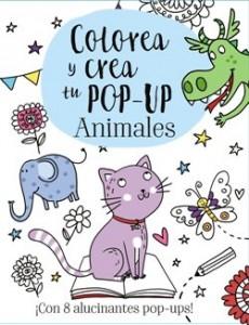 Juegos de ingenio para niños | Colorea y crea tu Pop-up. Animales