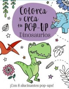 Juegos de ingenio para niños | Colorea y crea tu Pop-up. Dinosaurios