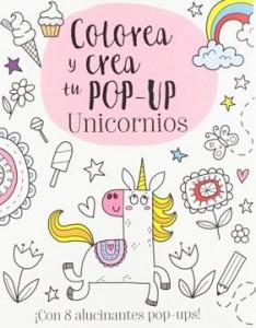 Juegos de ingenio para niños | Colorea y crea tu pop-up. Unicornios