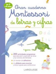 Juegos de ingenio para niños | Gran cuaderno Montessori de letras y cifras