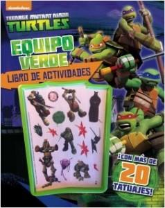 Juegos de ingenio para niños | Las Tortugas Ninja. Equipo verde. Libro de actividades