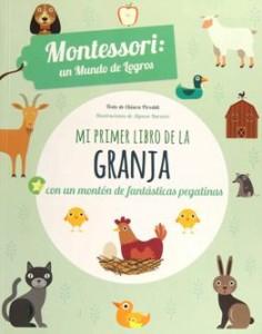 Juegos de ingenio para niños | Mi primer libro de la granja. Montessori un mundo de logros