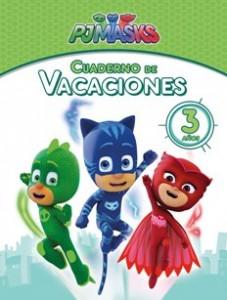 Juegos de ingenio para niños | PJ Masks. Cuaderno de vacaciones - 3 años