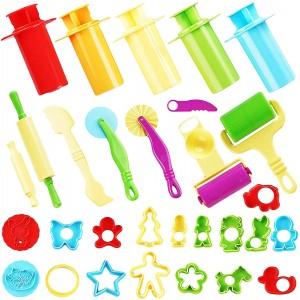 Manualidades con plastilina para niños | Pack de 30 herramientas para plastilina
