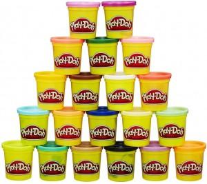 Manualidades con plastilina para niños | pack Mundo de Colores de 20 botes de plastilina Play-Doh