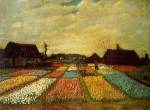 """""""Campo de tulipanes"""" de Vincent Van Gogh."""