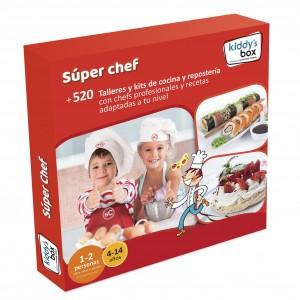 Ideas de regalos originales para niños | Caja regalo Súper chef. Talleres de cocina