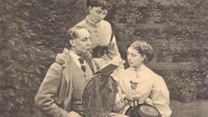 Dickens leyendo a sus hijas, Mimie y Katey, en Gad's Hill.