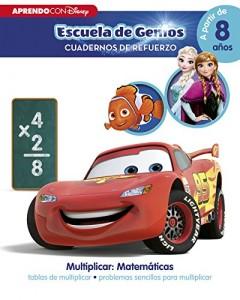 Juegos para aprender matemáticas   Aprendo con Disney. Problemas sencillos para multiplicar   +8 años