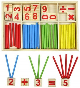 Juegos para aprender matemáticas   Bloques de madera Montessori   +5 años
