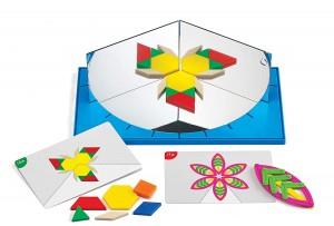 Juegos para aprender matemáticas   Espejo para simetrías y geometría con actividades   +5 años