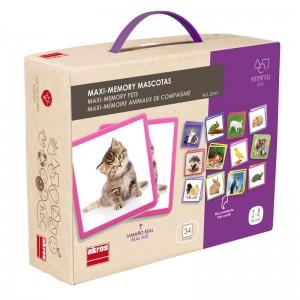 Juegos para aprender matemáticas   Maxi-memory mascotas   +2 años