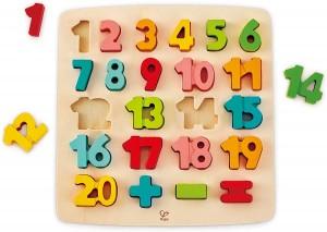 Juegos para aprender matemáticas   Puzle encajable de madera de números   +3 años