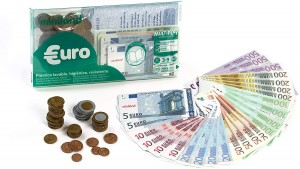 Juegos para aprender matemáticas   Set euros con 28 billetes y 80 monedas   De 3 a 9 años